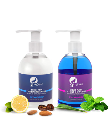 Morning Evening Refreshers - Caffeine Face Wash + Caffeine Shower Gel