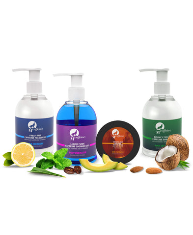 Head-to-toe Charger Pack(Shower Gel + Shampoo + Body Butter + Face Wash)