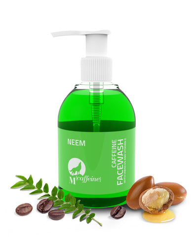 Neem Caffeine Facewash with Argan Oil and Vitamin E