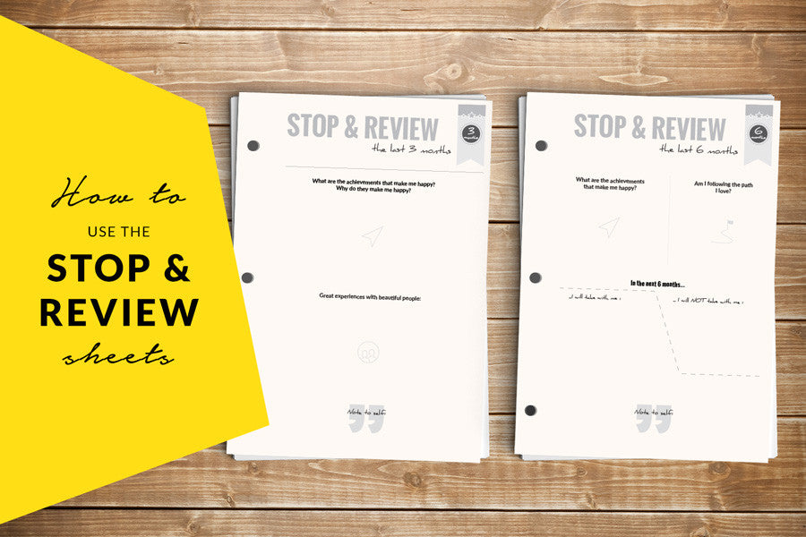 The 3-Month & 6-Month Review Sheets