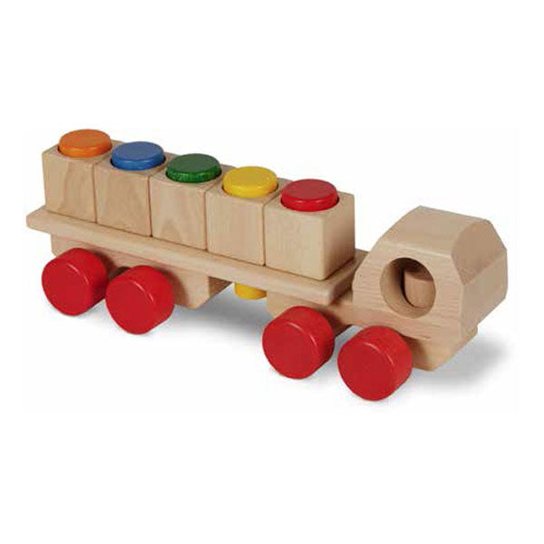 NIC Plug Mobile Wooden Truck Natural