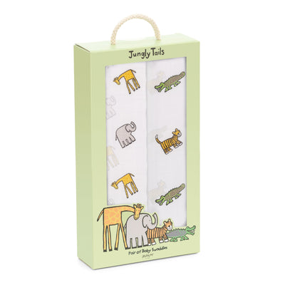 Jellycat Jungly Tails Pair of Swaddles
