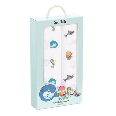 Jellycat Sea Tails Pair of Swaddles