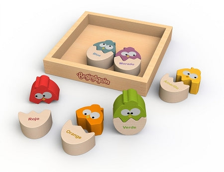 Begin Again Toys Color 'N Eggs Matching Game