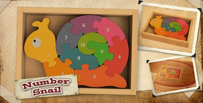 Begin Again Toys Number Snail Puzzle