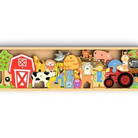 Begin Again Toys The Farm A-Z Puzzle & Playset