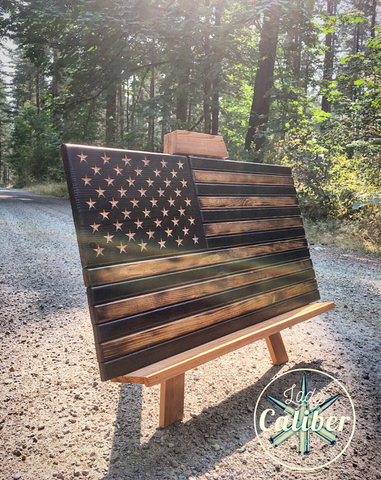 Wooden American Flagrustic Flagwooden Sign Lady Caliber Woodworking
