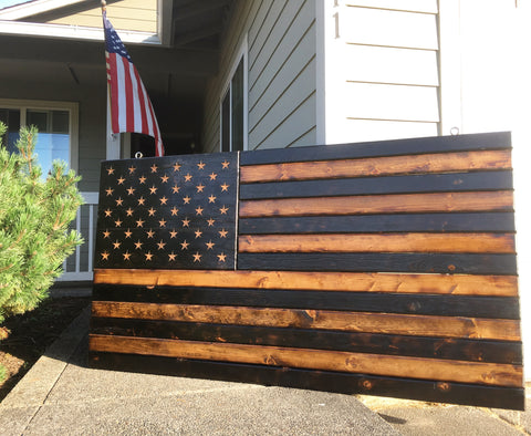 Large Wooden Flag 3x5