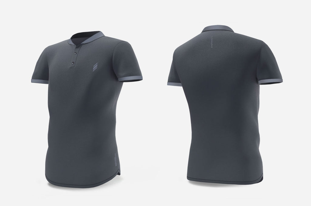 Henley (dark grey/light grey)
