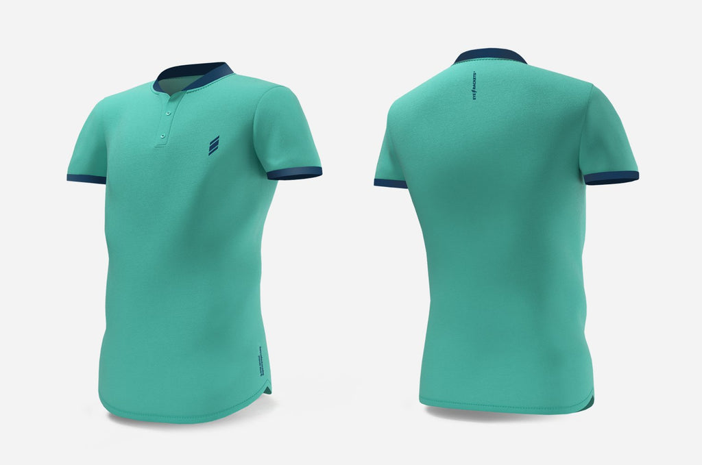 Henley (turquoise/navy)