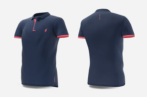 Polo (navy/peach)