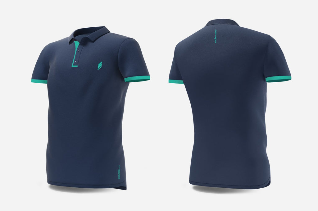 Polo (navy/turquoise)