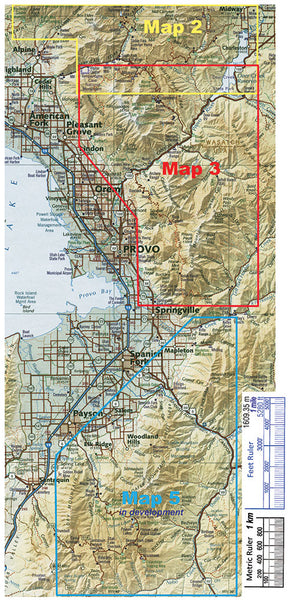 Wasatch Touring Map 3 - Southern Wasatch