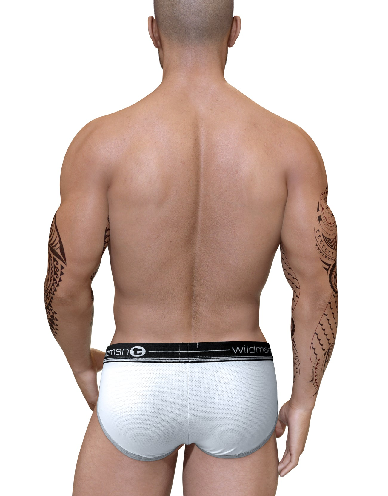 Duo Big Boy Pouch Brief Black - Big Penis Underwear, WildmanT - WildmanT
