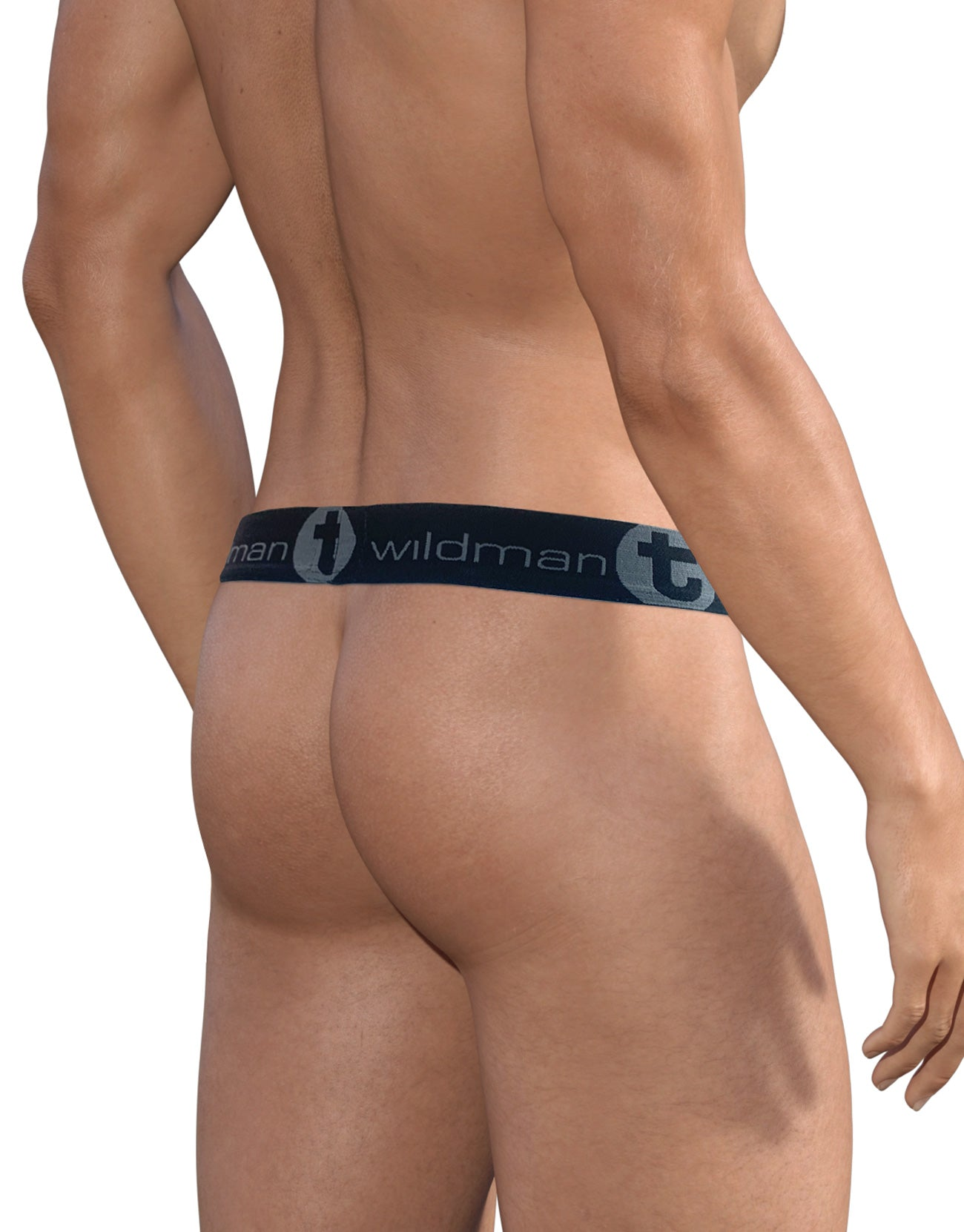 WildmanT Stretch Cotton Strapless Jock Big Boy Pouch Light Blue/Black