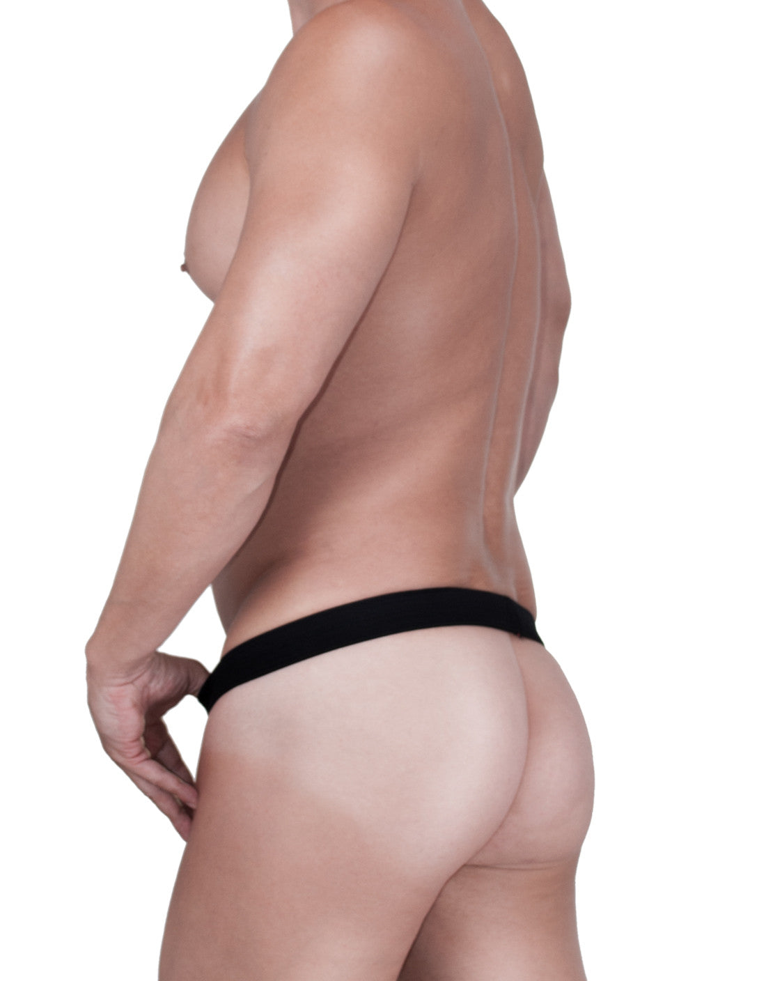 WildmanT Raw Strapless Mesh Jock with C-ring Loop and Duraband Black - Big Penis Underwear, WildmanT - WildmanT
