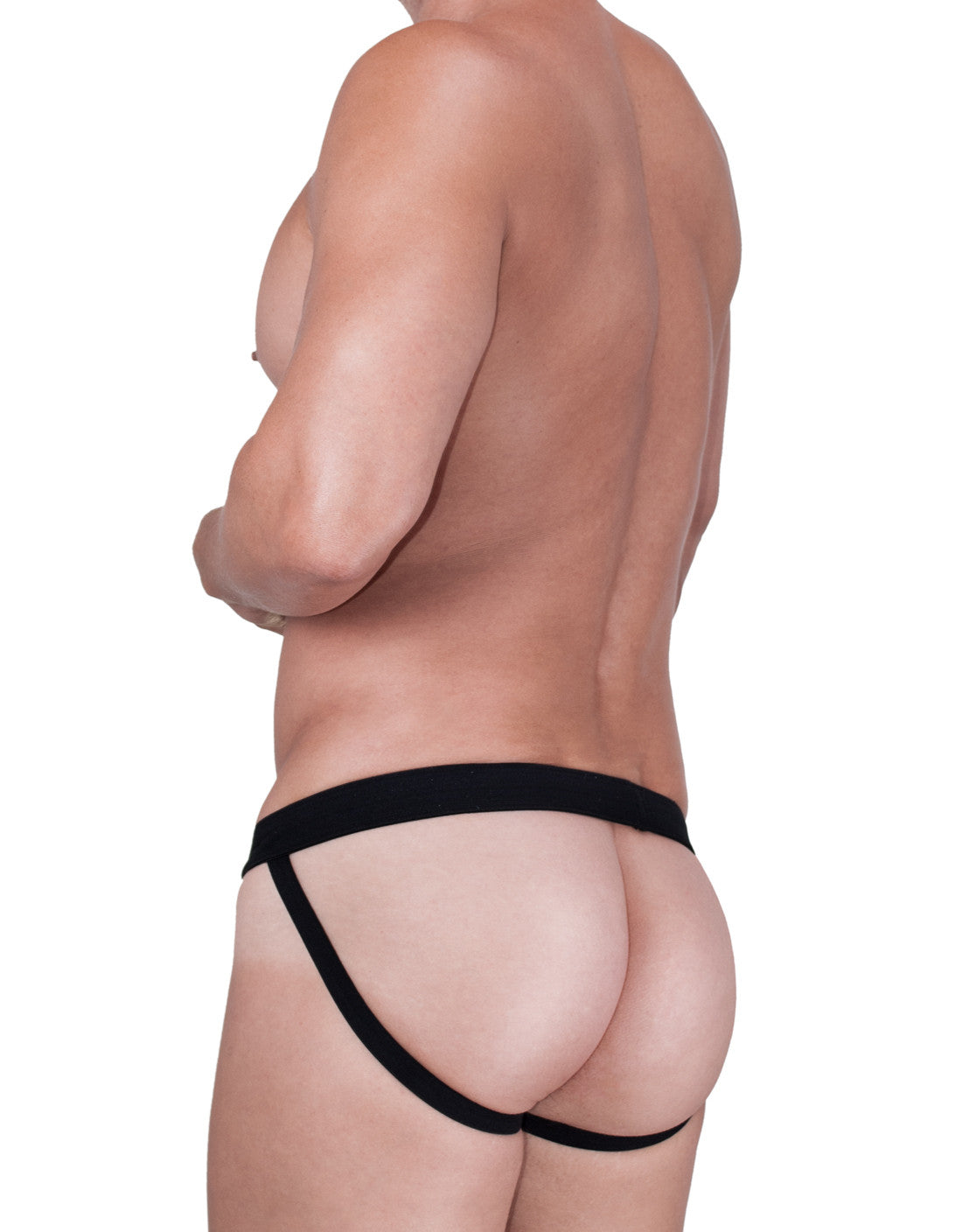 WildmanT Raw Mesh Jockstrap with Duraband Waistband Black - Big Penis Underwear, WildmanT - WildmanT