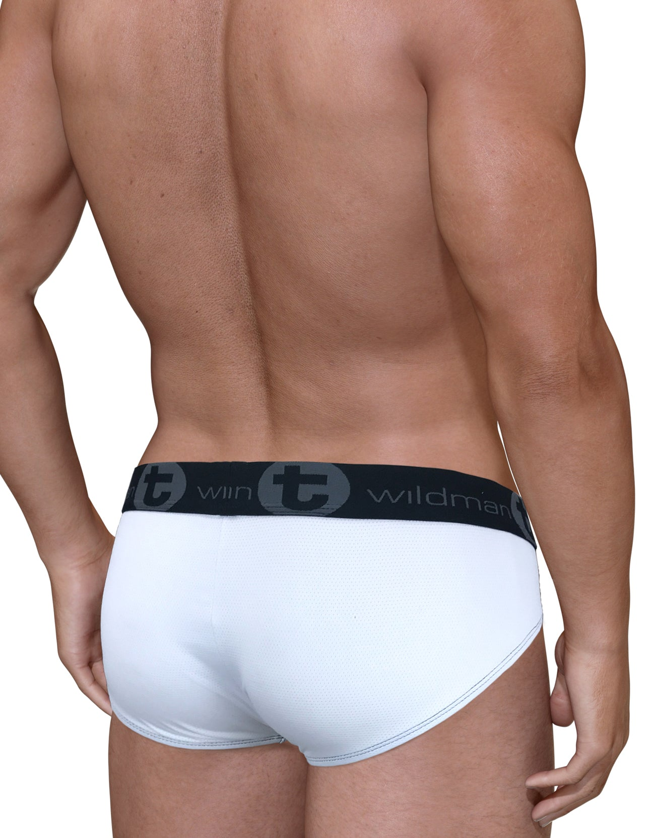 Mesh Big Boy Pouch Brief with Stripe