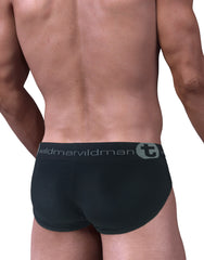 Stretch Cotton Big Boy Pouch Brief Black/Blue