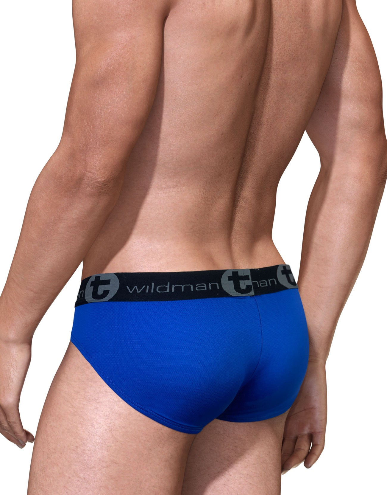 BIG BOY POUCH MESH BRIEF ROYAL BLUE/WHITE