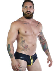 Sportivo Bikini Black & Yellow - Big Penis Underwear, WildmanT - WildmanT