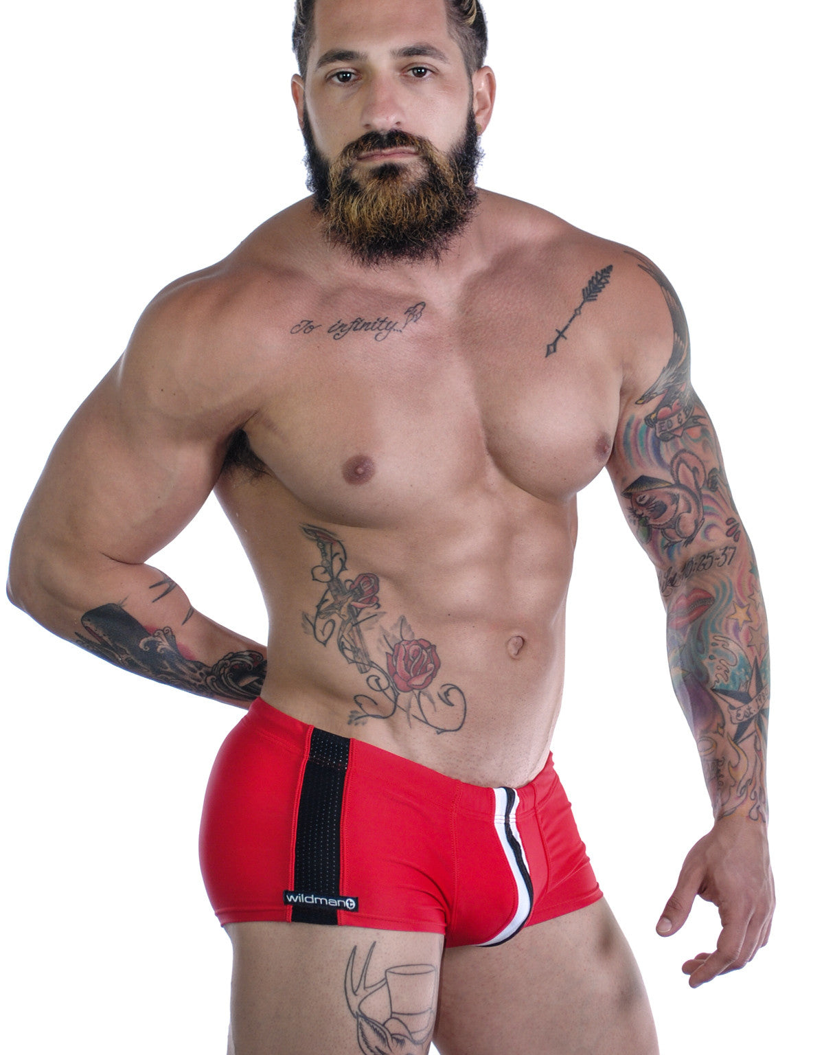 Sportivo Square Cut Red - Big Penis Underwear, WildmanT - WildmanT