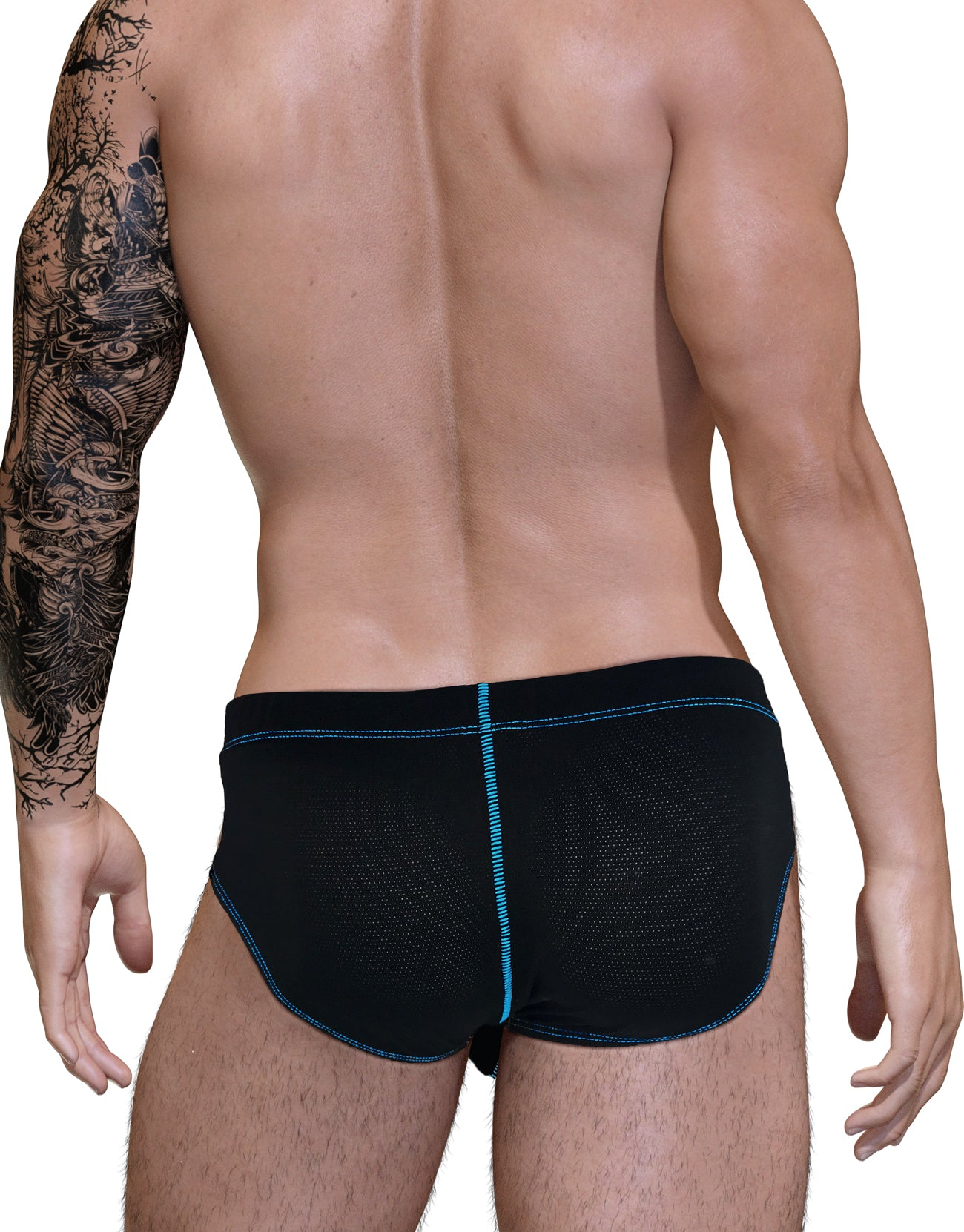 Stitch Big Boy Pouch Brief - Blue - Big Penis Underwear, WildmanT - WildmanT