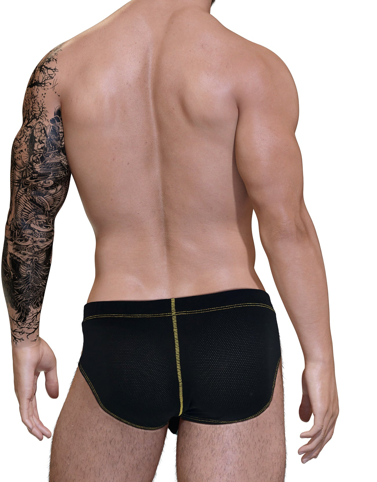 Stitch Big Boy Pouch Brief - Yellow - Big Penis Underwear, WildmanT - WildmanT