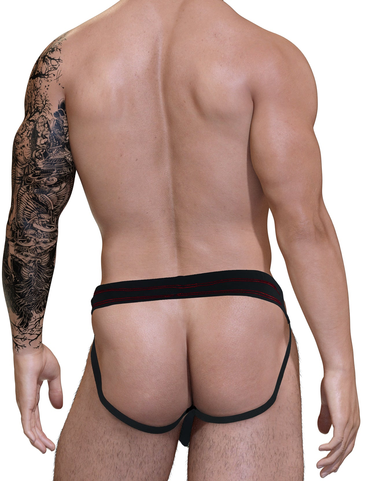 Stitch Big Boy Pouch Jock Strap - Red - Big Penis Underwear, WildmanT - WildmanT
