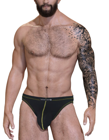 Stitch Big Boy Pouch Jock Strap - Yellow - Big Penis Underwear, WildmanT - WildmanT