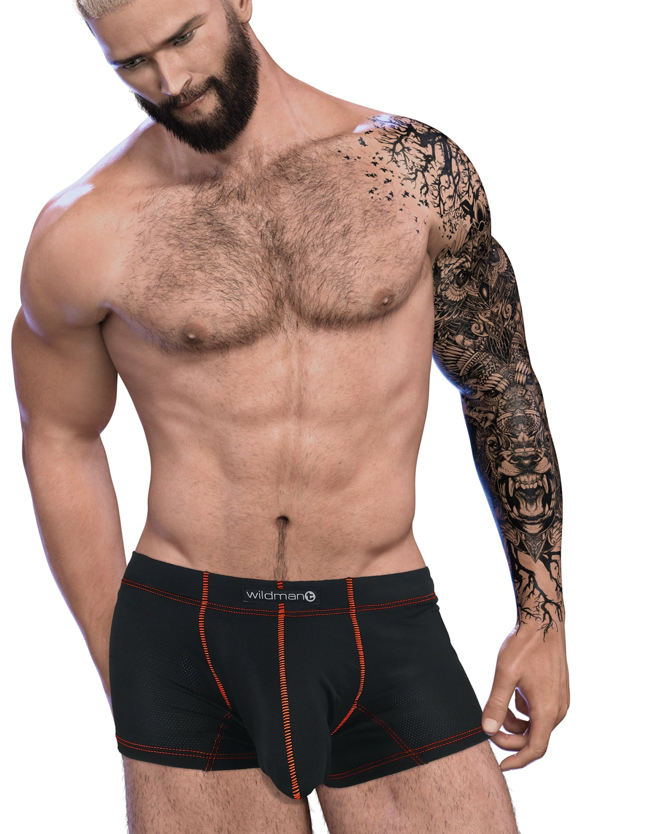Stitch Big Boy Pouch Boxer Brief - Red - Big Penis Underwear, WildmanT - WildmanT