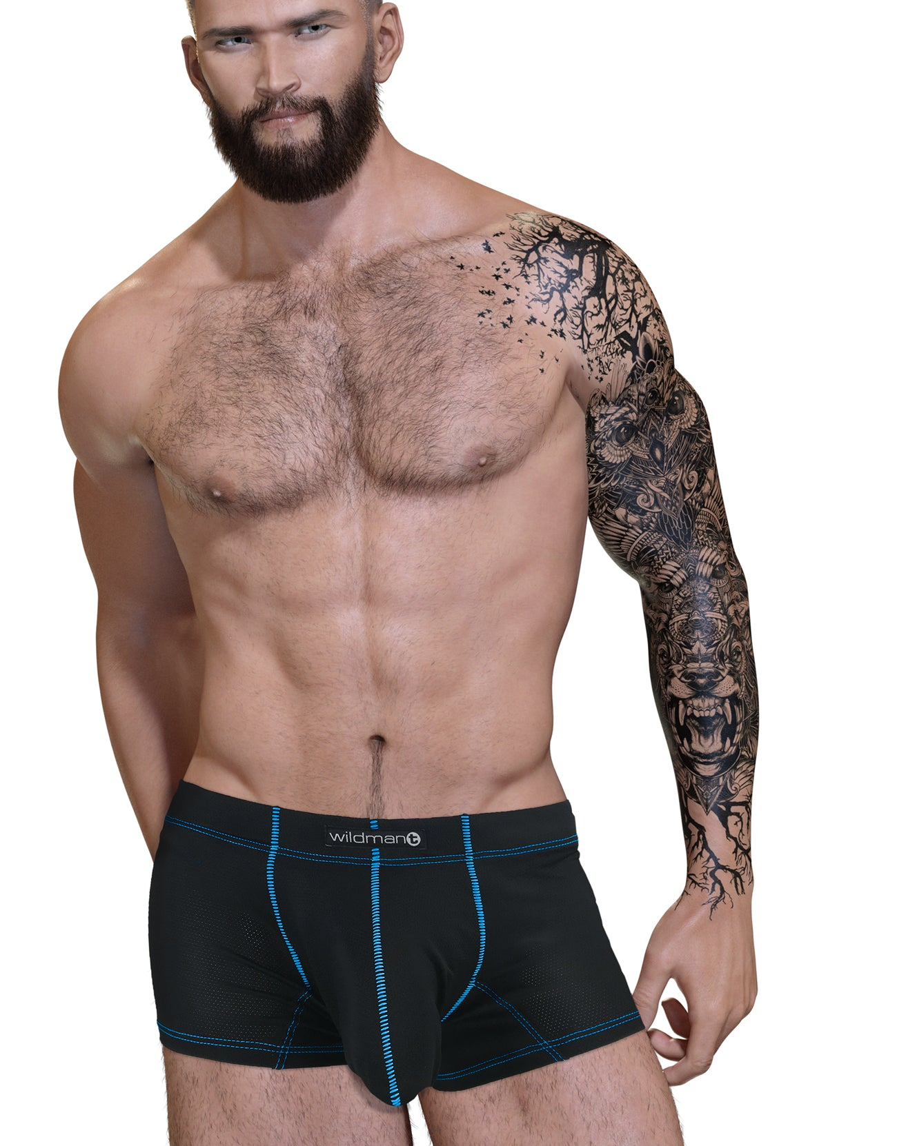 Stitch Big Boy Pouch Boxer Brief Blue - Big Penis Underwear, WildmanT - WildmanT
