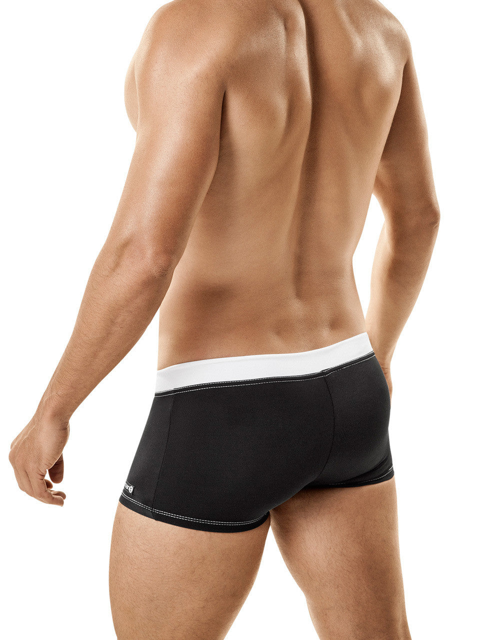 WildmanT Banned Swim Square Cut w/Ball Lifter® Cock-Ring Black - Big Penis Underwear, WildmanT - WildmanT