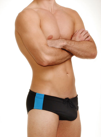 WildmanT Midnight Swim w/Ball Lifter® Cock-Ring Blue Stripe - Big Penis Underwear, WildmanT - WildmanT