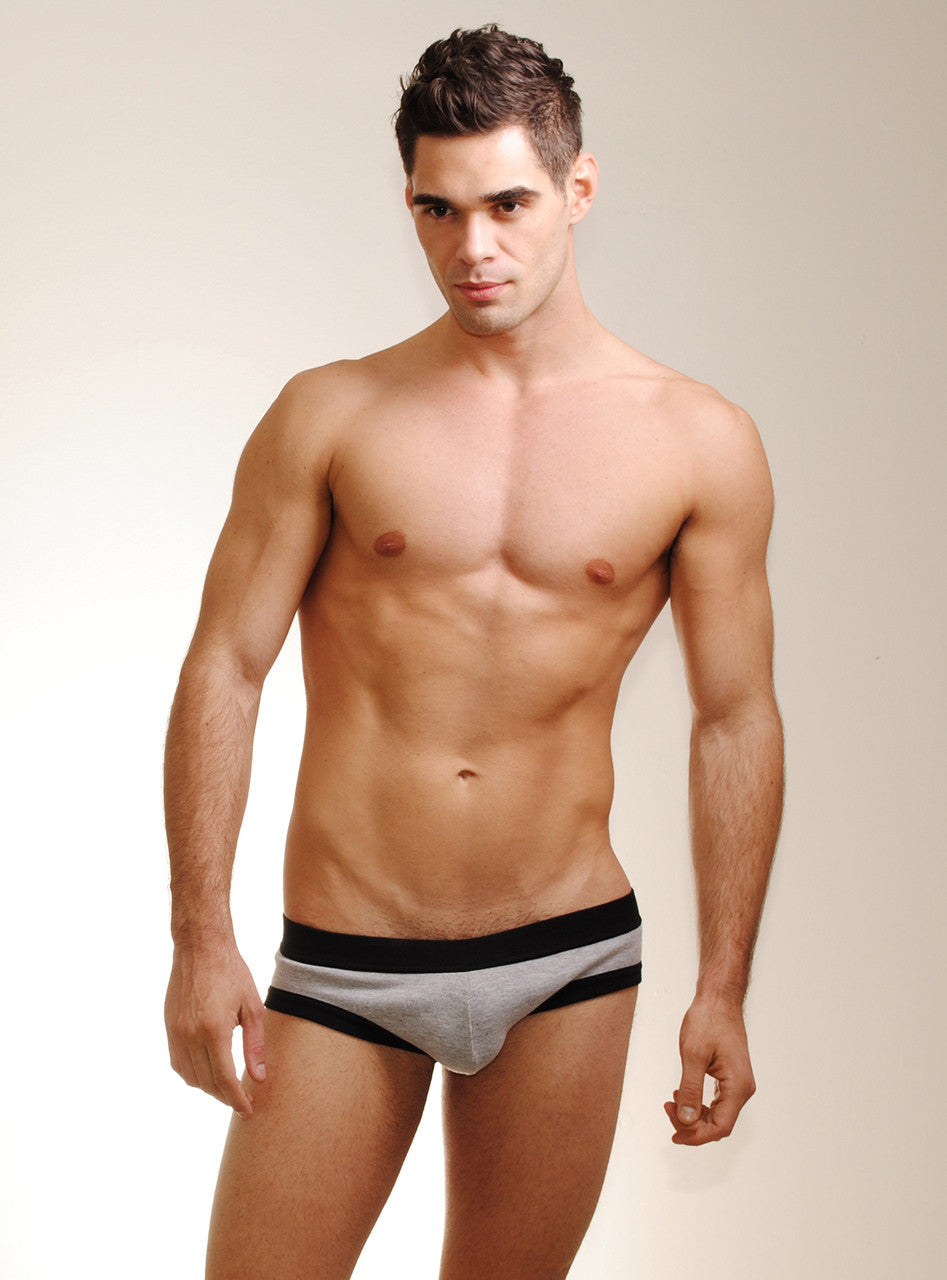 WildmanT: Brief w/Ball Lifter® Cock-Ring Gray - Big Penis Underwear, Wildman T - WildmanT