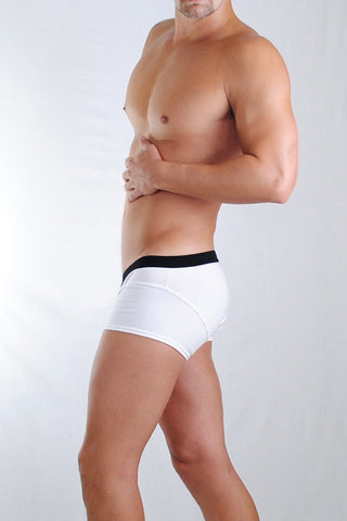Wildmant: Speed Boxer Brief w/Ball Lifter® Cock-Ring - White