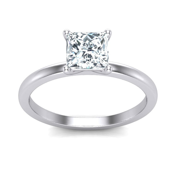 Princess-Cut Cubic Zirconia sterling silver 925  Engagement Ring - 736 Masonic