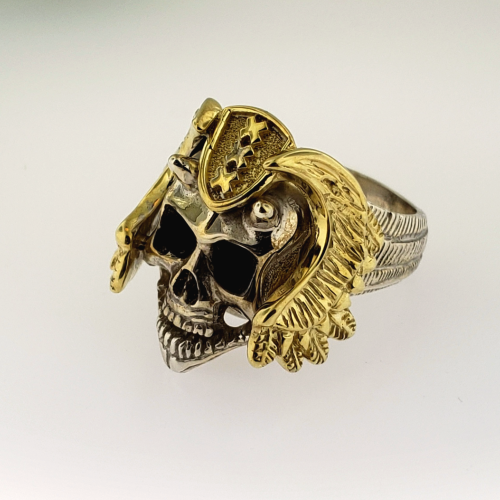 Horned Skull Ring (Helmet) - 736 Masonic