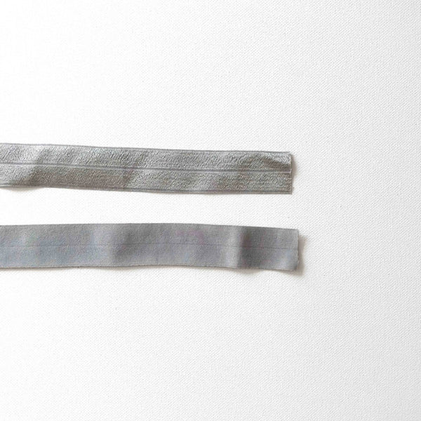 1 Inch Fold Over Elastic - Grey