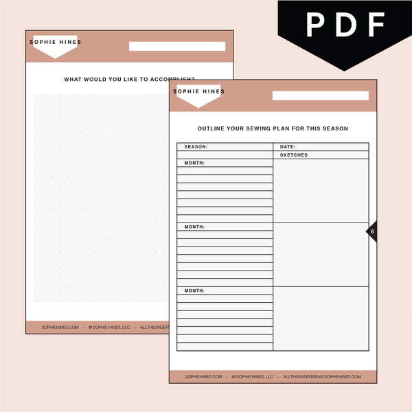 Seasonal Project Planning Sheets - Downloadable PDF + PNG