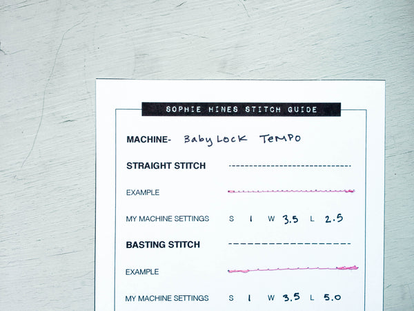 Lingerie Stitch Guide