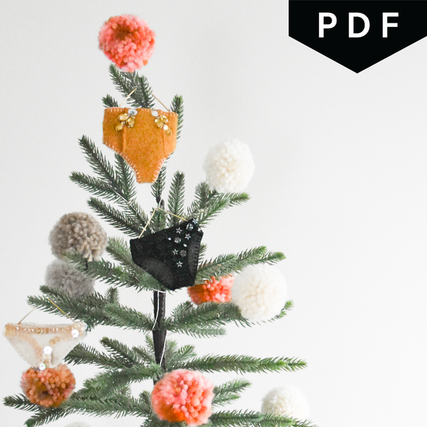 Undie Ornament Sewing Class - Includes PDF Pattern