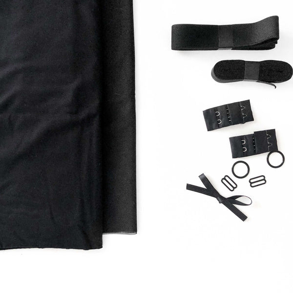 Euler Bralette Sewing Kit - Black