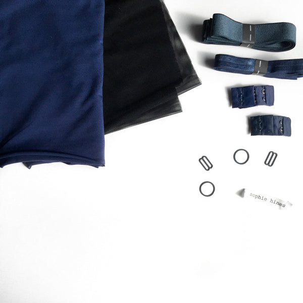 Euler Bralette Sewing Kit - Navy