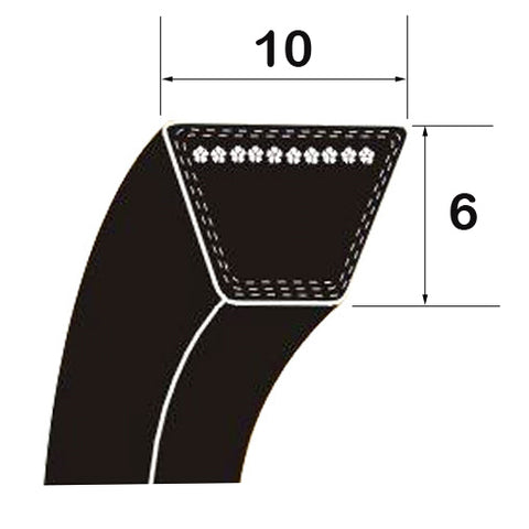 "O/Z Section 370mm/14.6"" Rubber V Belt"