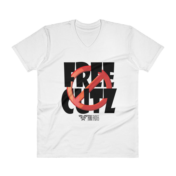 No Free Cutz V-Neck T-Shirt
