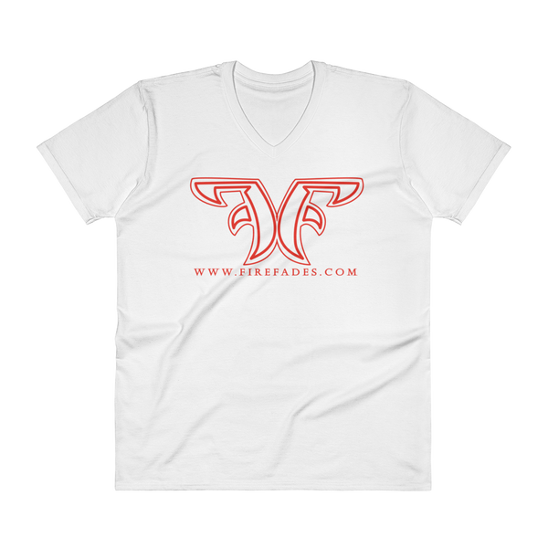 Fire Fades Logo V-Neck T-Shirt