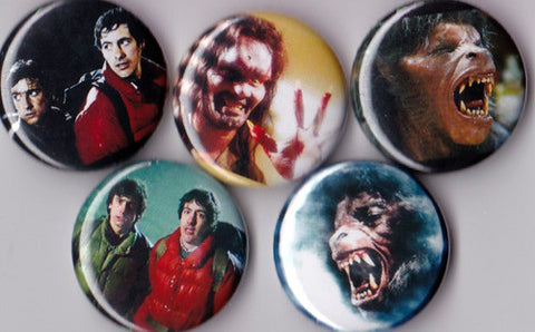 American Werewolf in London Pinback Buttons set of 5 - Pindependent Pinbacks