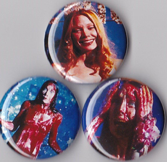 Carrie Pinback Buttons set of 3 - Pindependent Pinbacks