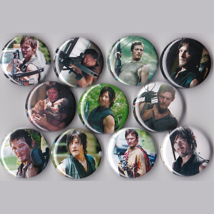 Daryl Dixon Pinback Buttons set of 11 Pins - Pindependent Pinbacks
